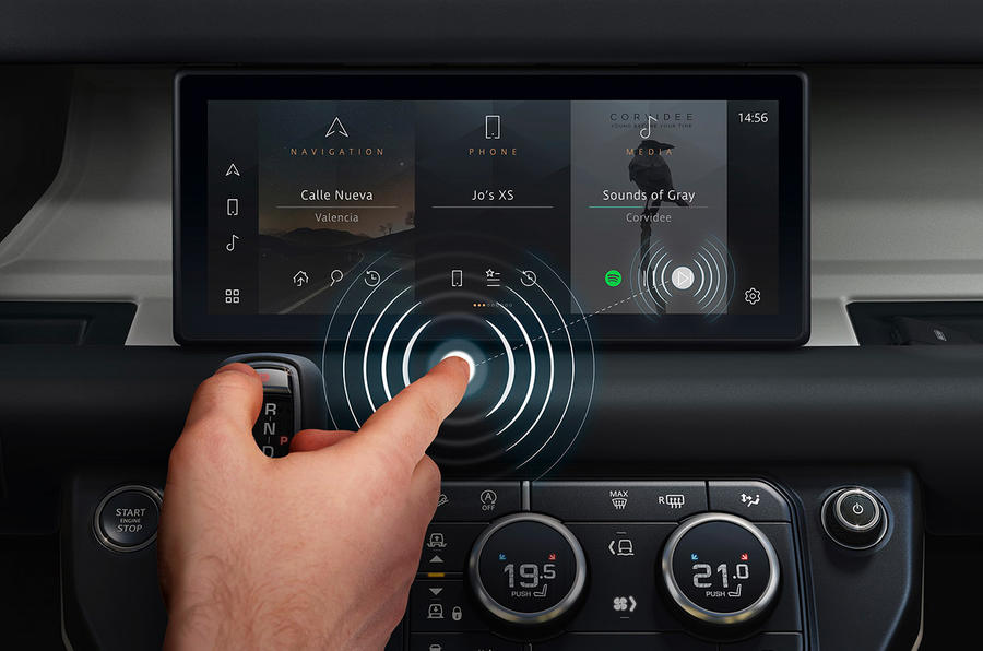 Land Rover contactless touch technology