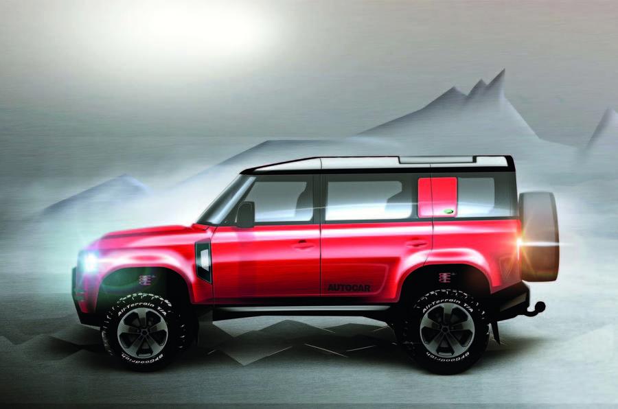 Land Rover Defender render
