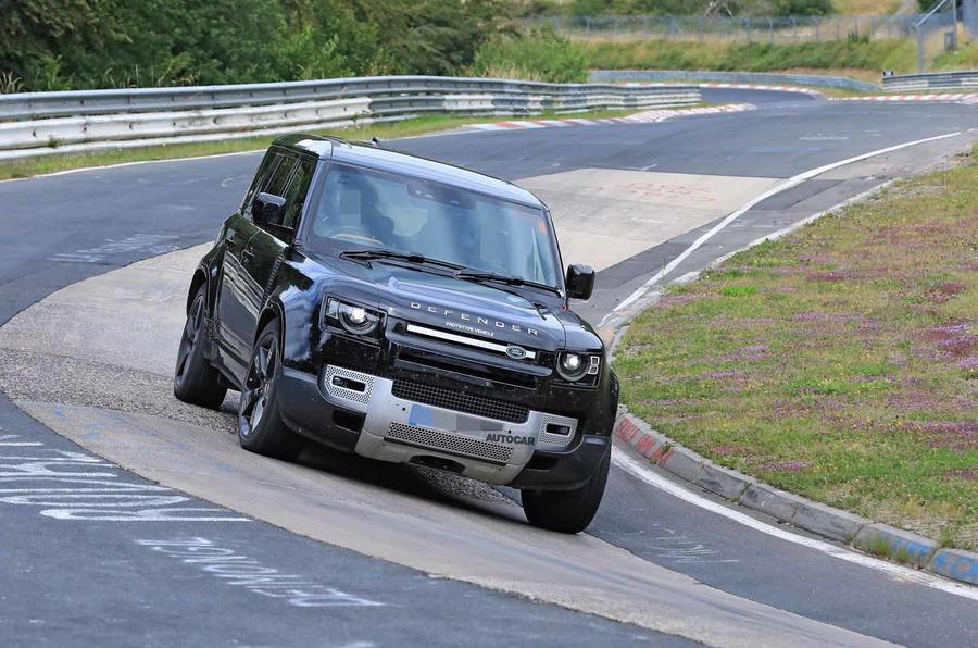 Land Rover Defender V8 Nurburgring front corner
