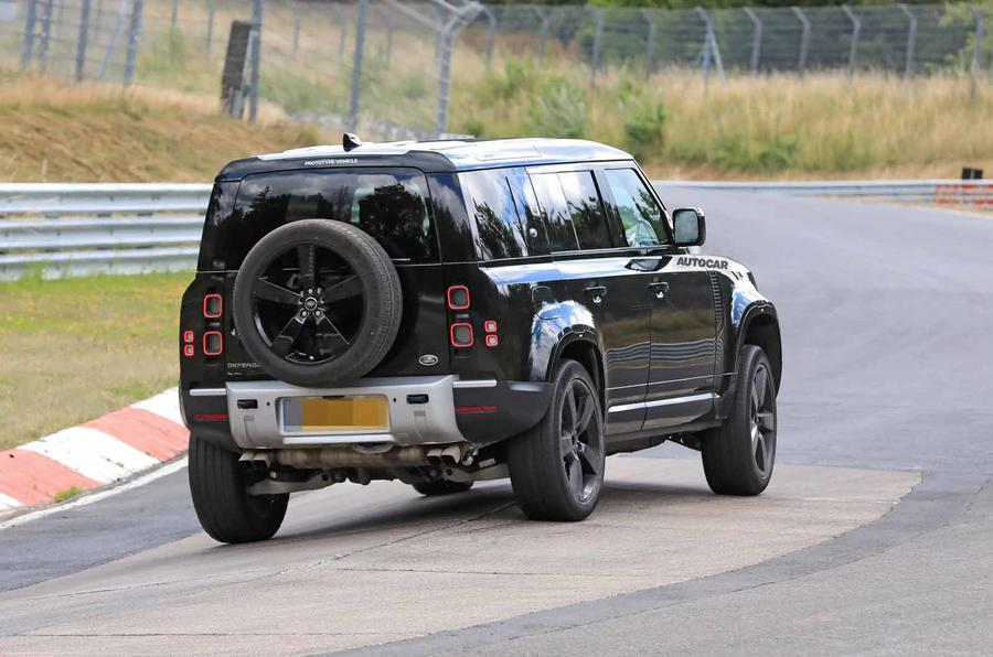 Land Rover Defender V8 Nurburgring rear side