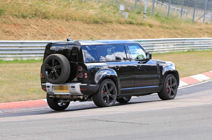 Land Rover Defender V8 Nurburgring side rear