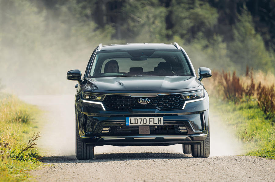 Kia Sorento 2.2 CRDI 2020 UK first drive review - on the road nose
