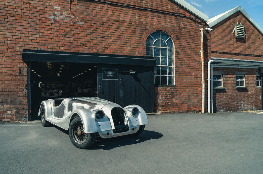 Morgan factory - final steel chassis car