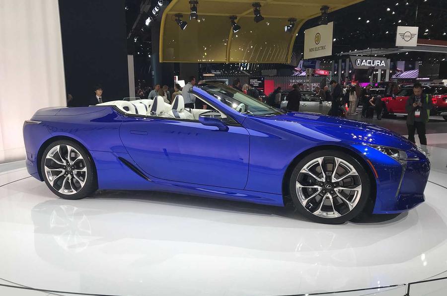 Lexus LC500 convertible side profile