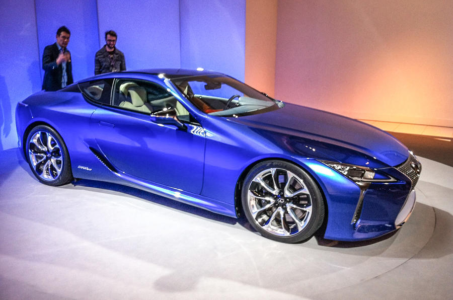 lexus has shown a hybrid version of its lc luxury coup at geneva