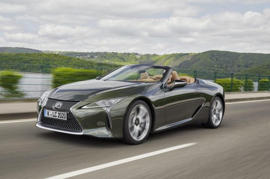 Lexus LC Convertible tracking