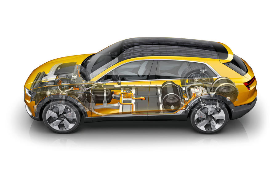Audi h-tron 2016 concept - cutaway