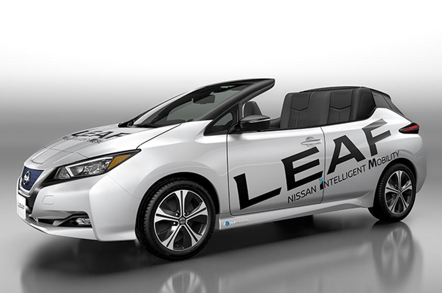 Nissan Commemorates 100,000 Leaf Sales in Japan by Ripping Its Top Off