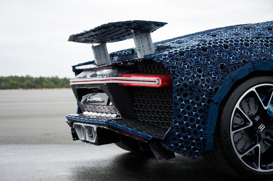 Bugatti Chiron lifesize Lego model