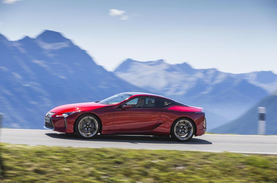 Lexus LC500 side profile