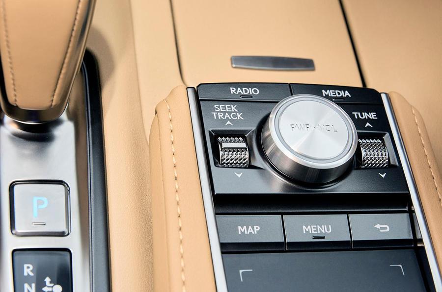 2017 Lexus LC 500 Sport+ review buttons