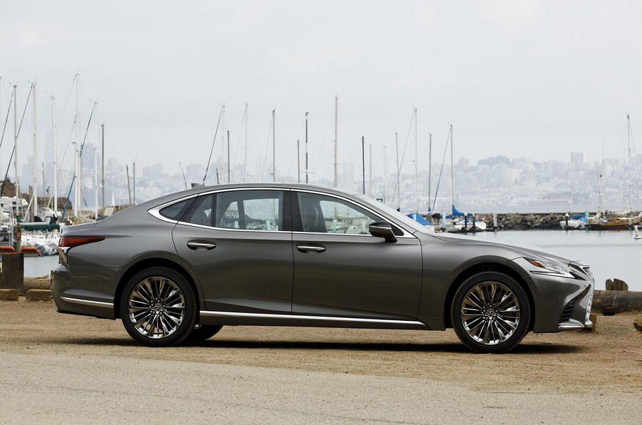 Lexus LS 500h F Sport side profile