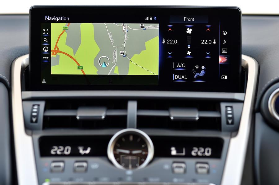 Lexus NX infotainment system