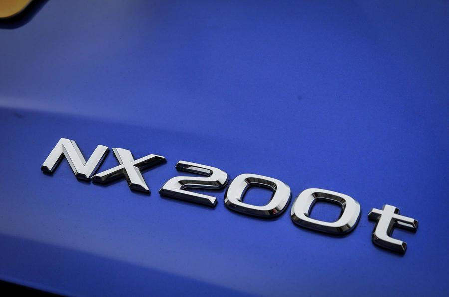 Lexus NX200t badging
