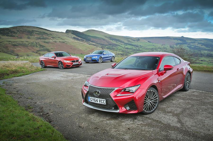 New Lexus RC F versus BMW M4 and Audi RS5 - comparison | Autocar