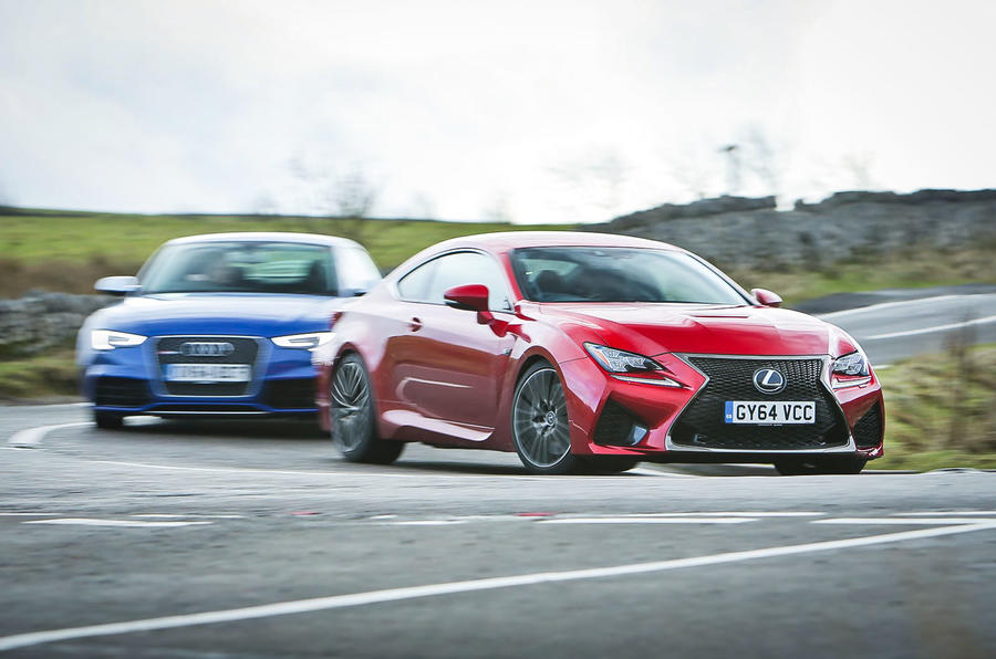 New Lexus RC F versus BMW M4 and Audi RS5 - comparison | Autocar