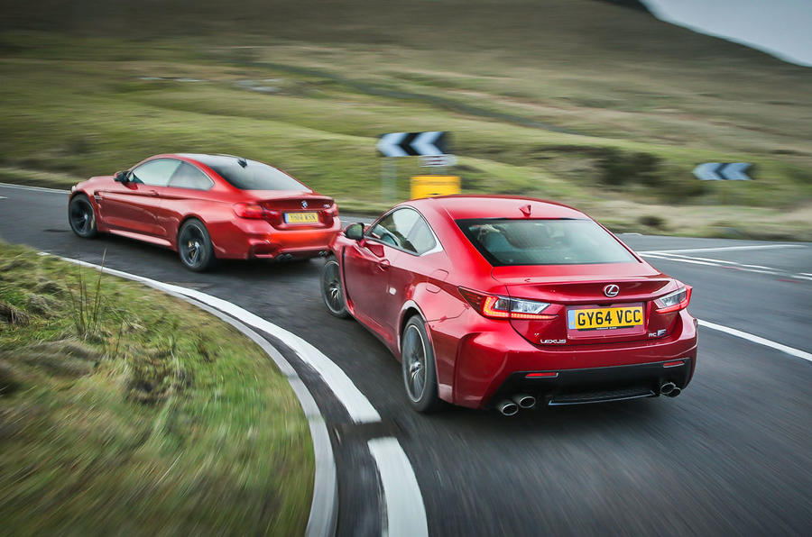 New Lexus Rc F Versus Bmw M4 And Audi Rs5 Comparison Autocar