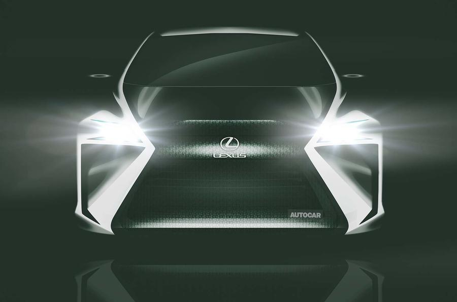 Lexus electric hatch front end render