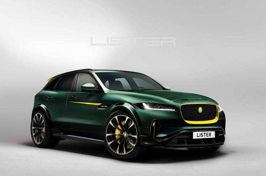 new lister lfp is 200mph jaguar f pace suv autocar. Black Bedroom Furniture Sets. Home Design Ideas