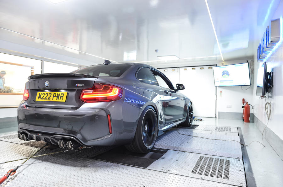Litchfield BMW M2 on the rolling road
