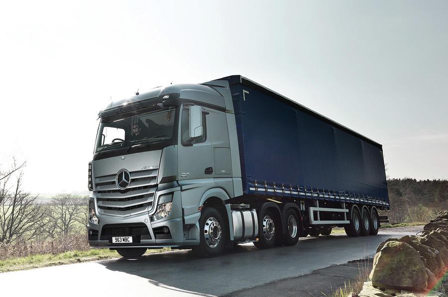 Autonomous lorry testing