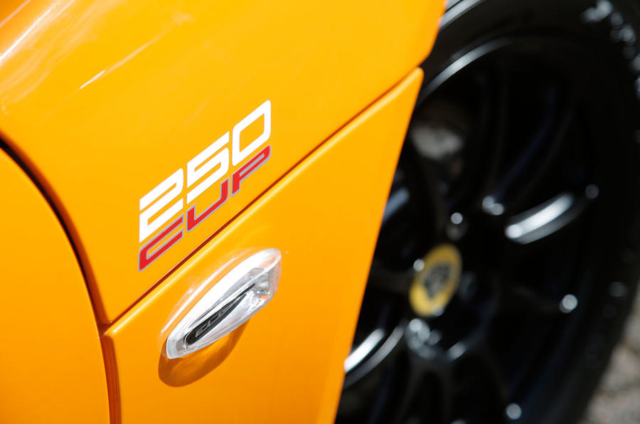 Lotus Elise Cup 250 badging