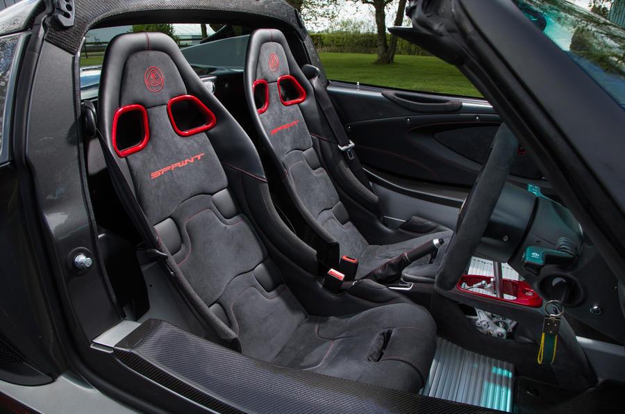 Lotus Elise Sprint interior