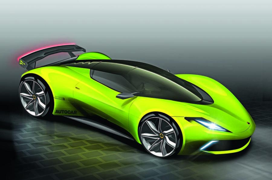 Lotus Type 130 hypercar render