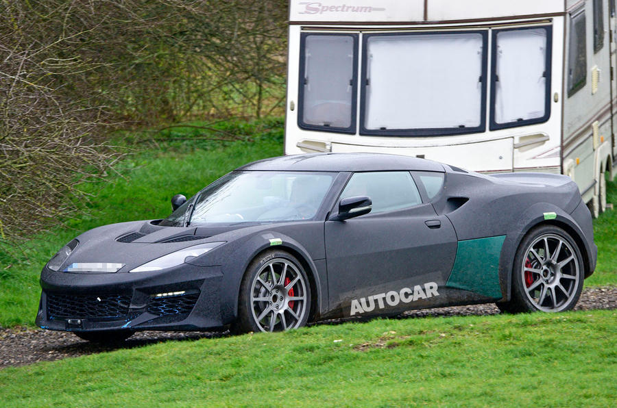 Lotus Esprit mule 2020 spy images - nose