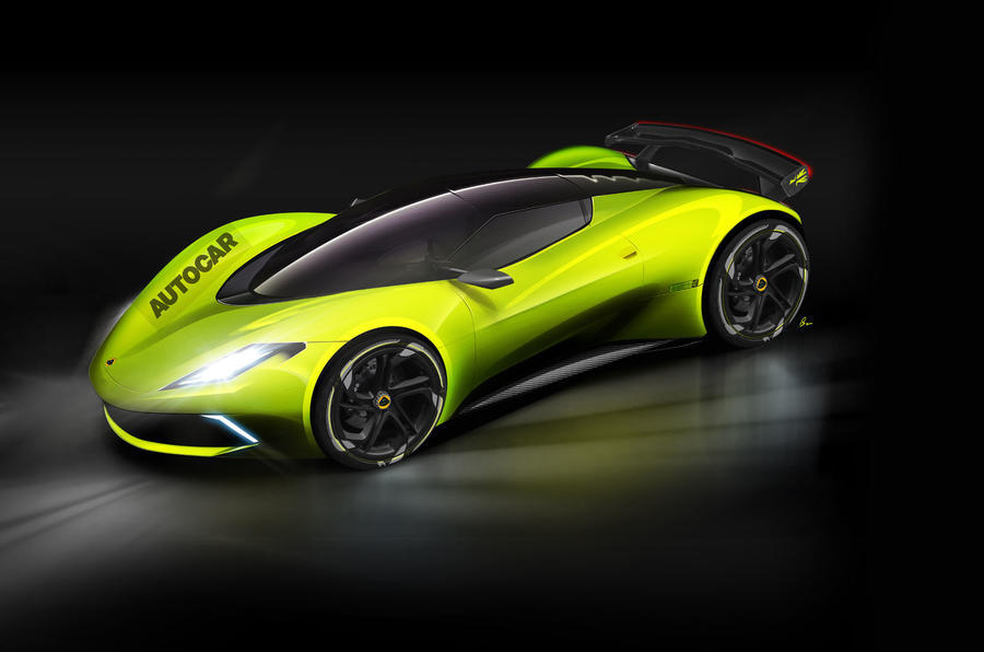 Lotus hypercar as imagined by Autocar