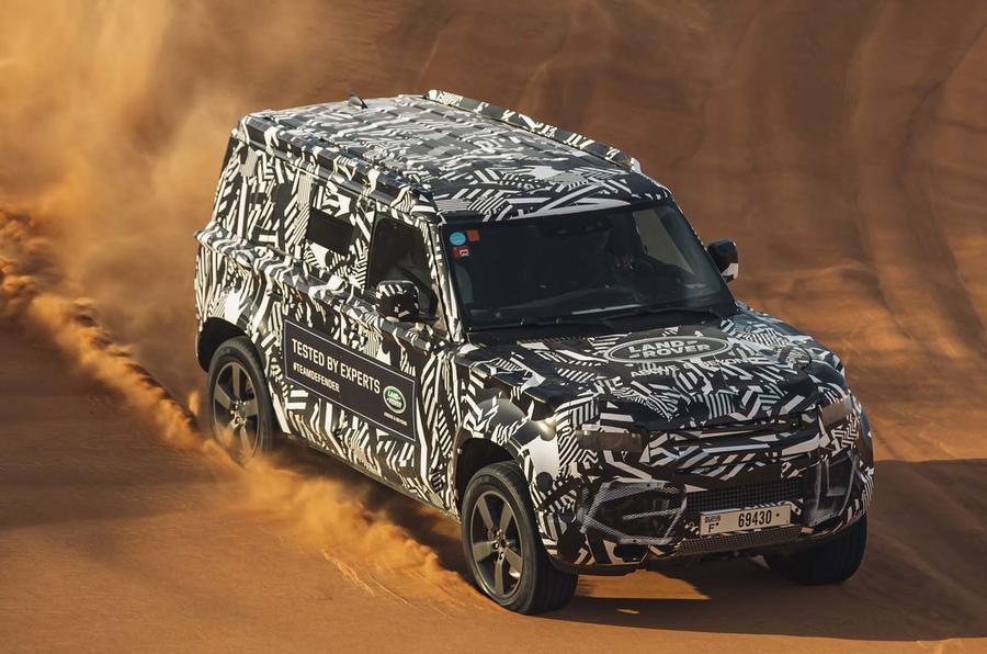 New Land Rover Defender tests with Red Cross in Dubai