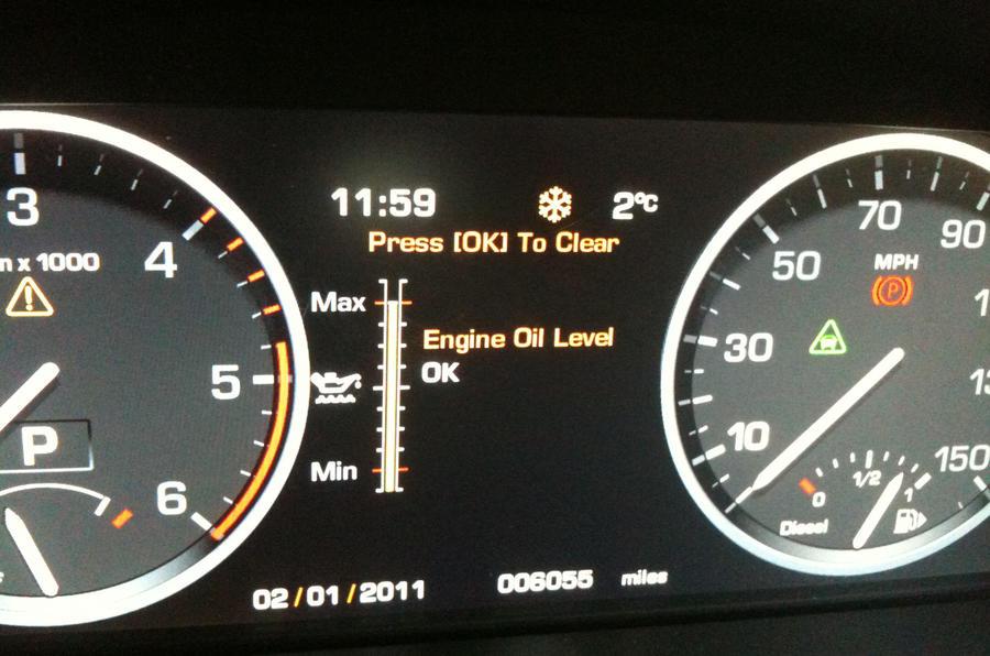 Dials and warning lights