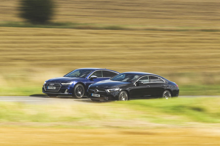 Audi S7 vs Alpina D5 S vs Mercedes-Benz CLS 400d 4Matic