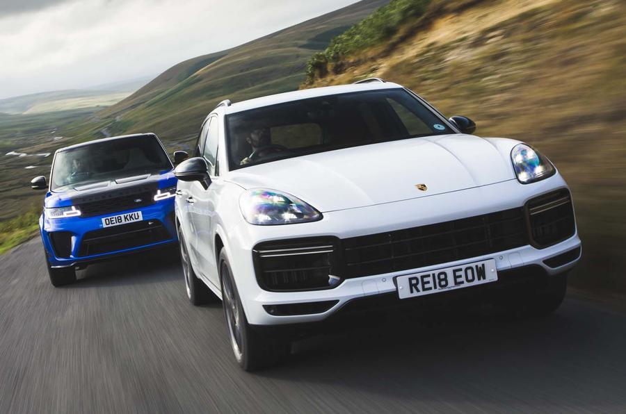 Hot SUV twin test: Porsche Cayenne Turbo vs Range Rover Sport SVR