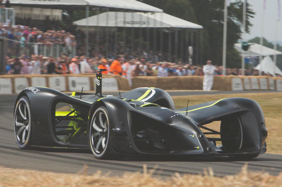 Roborace autonomous racing car shown in action at Goodwood