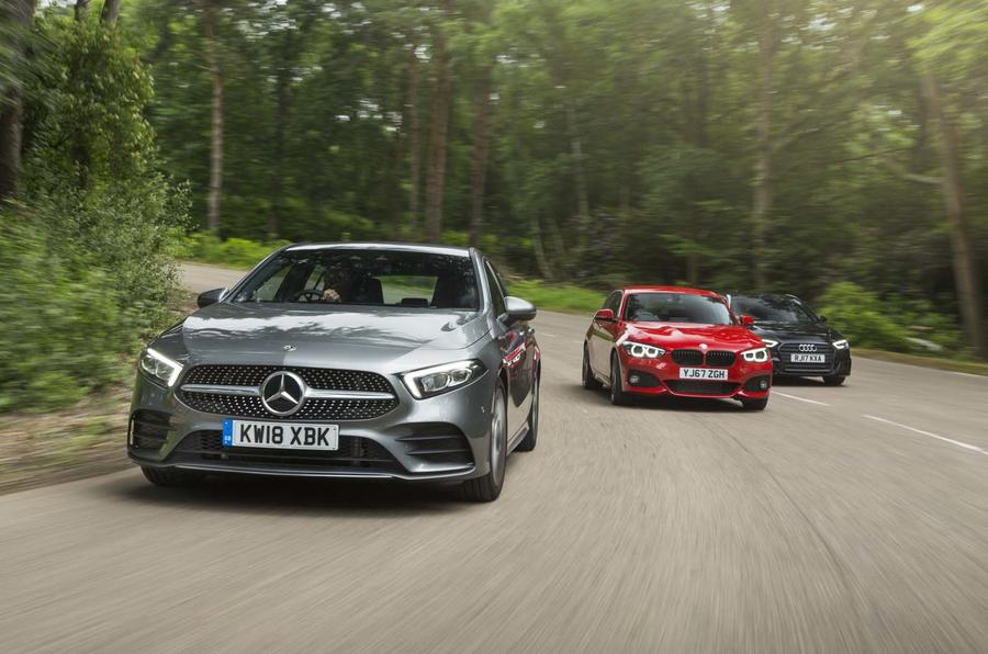 mercedes benz a class vs audi a3 vs bmw 1 series which is best rh autocar co uk