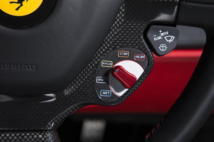 Ferrari 488 GTB dynamic control switch