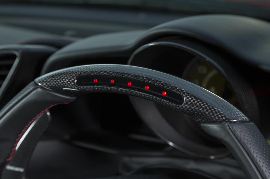 Ferrari 488 GTB steering wheel rev counter