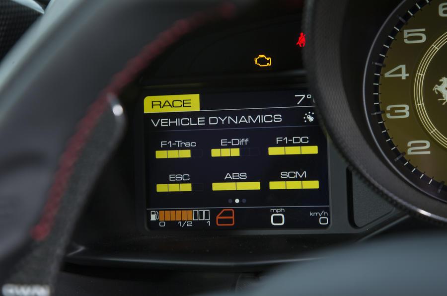 Ferrari 488 GTB instrument cluster
