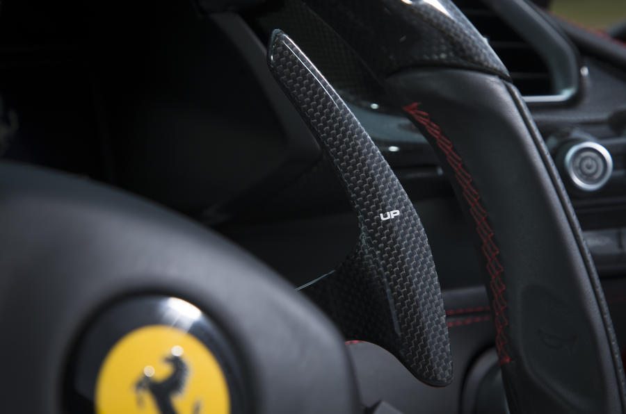 Ferrari 488 GTB paddle shifters