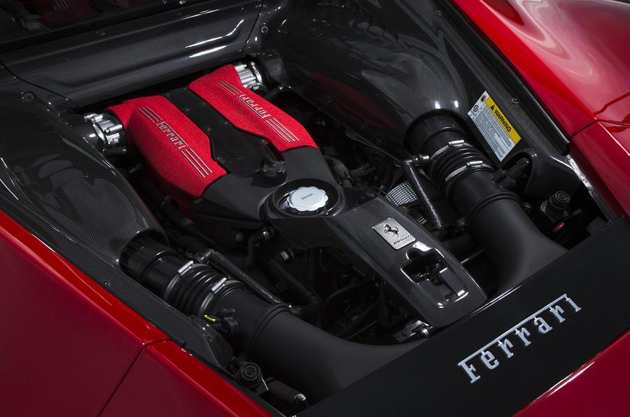 3.9-litre V8 Ferrari 488 GTB engine