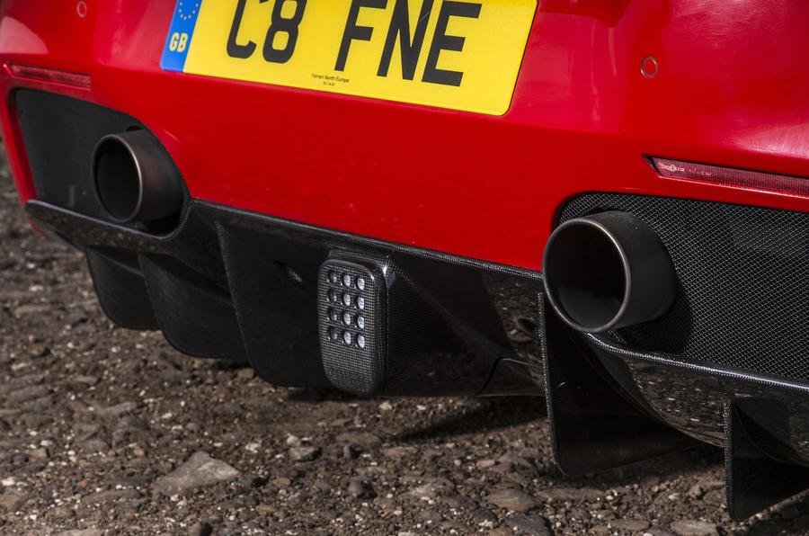 Ferrari 488 GTB rear diffuser