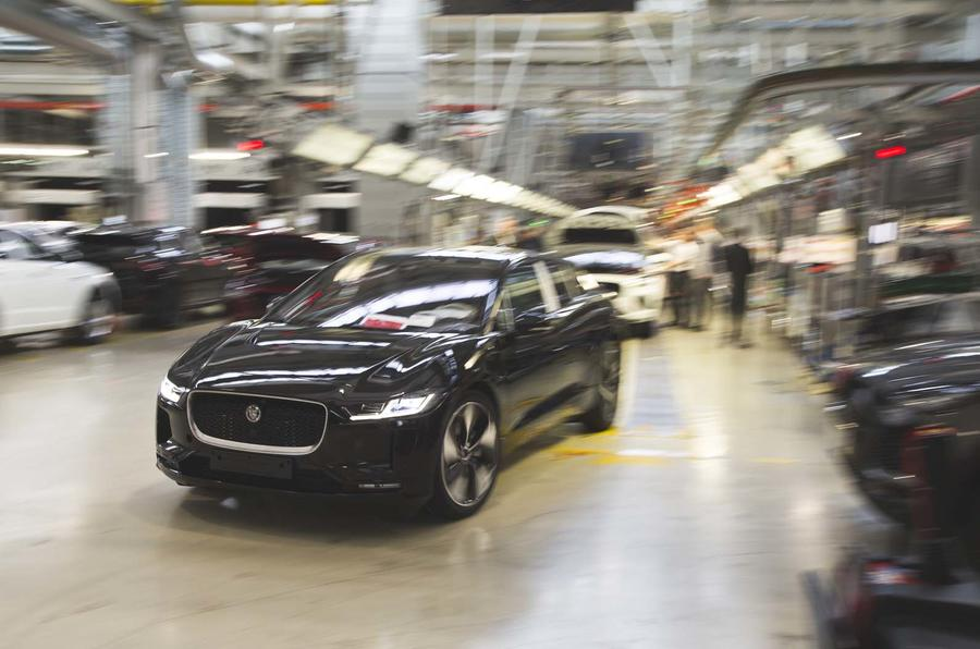 Jaguar I-Pace leaving the production line in Graz