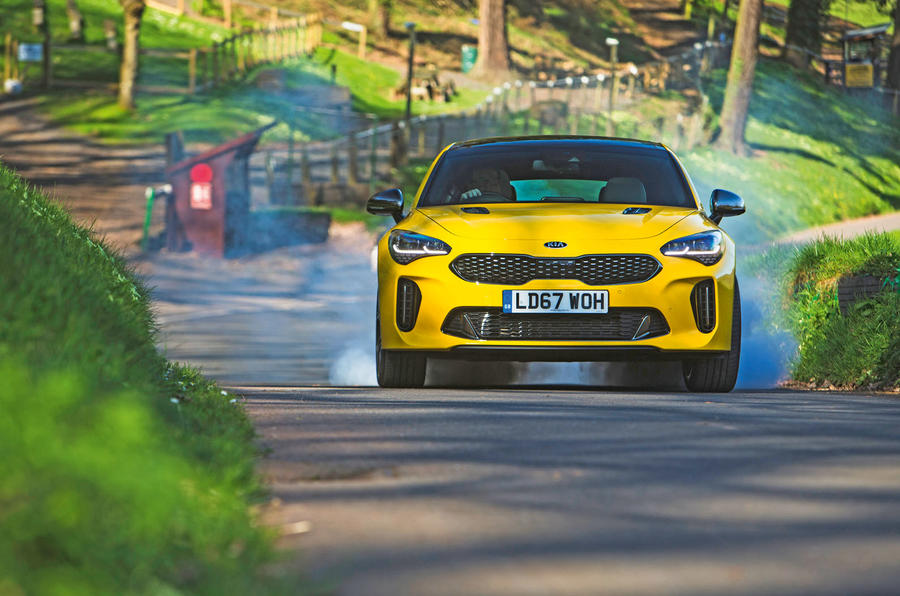 Kia Stinger GT S long-term review burnout