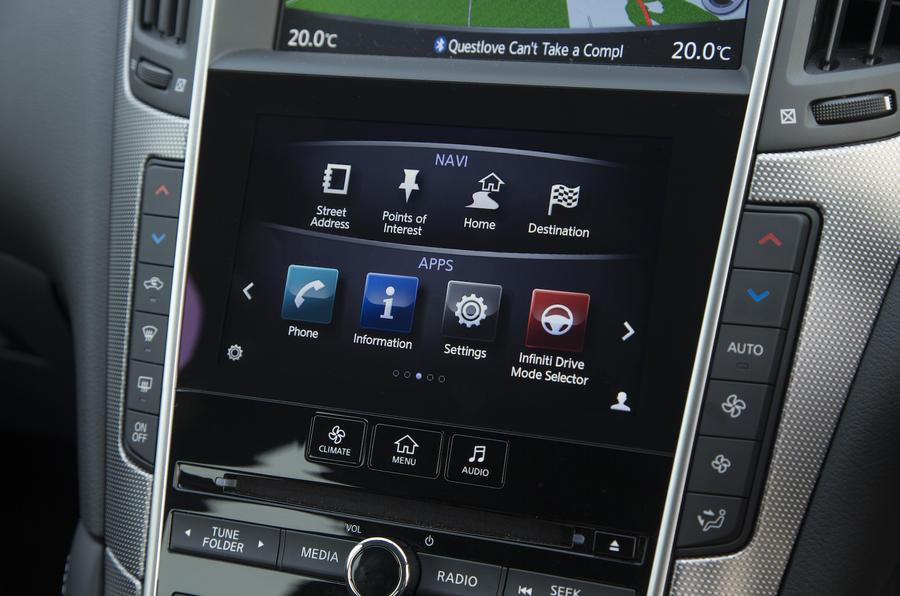 2016 Infiniti Q50 Control Panel