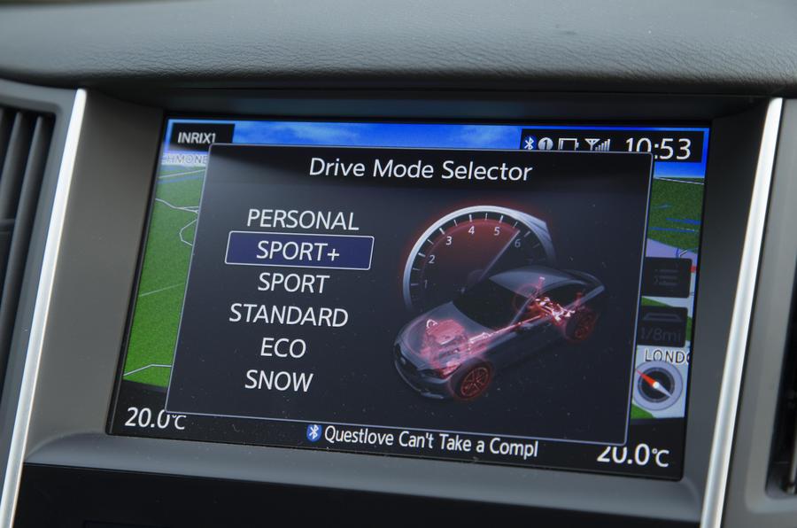 2016 Infiniti Q50 Sport Settings