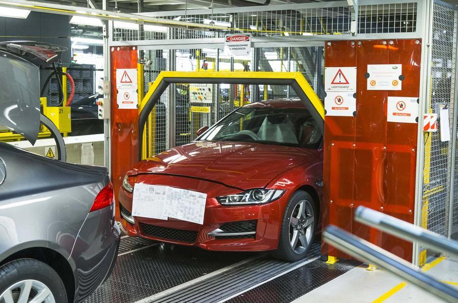 Jaguar XE production line