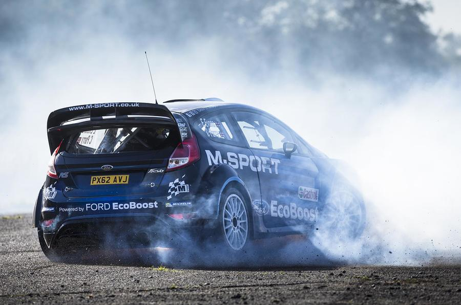 Co-driving in the Ford Fiesta R5 with Elfyn Evans, British rally champion