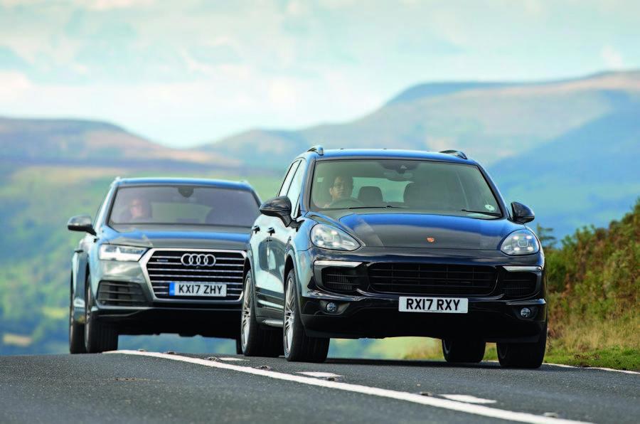 Audi q7 vs porsche cayenne