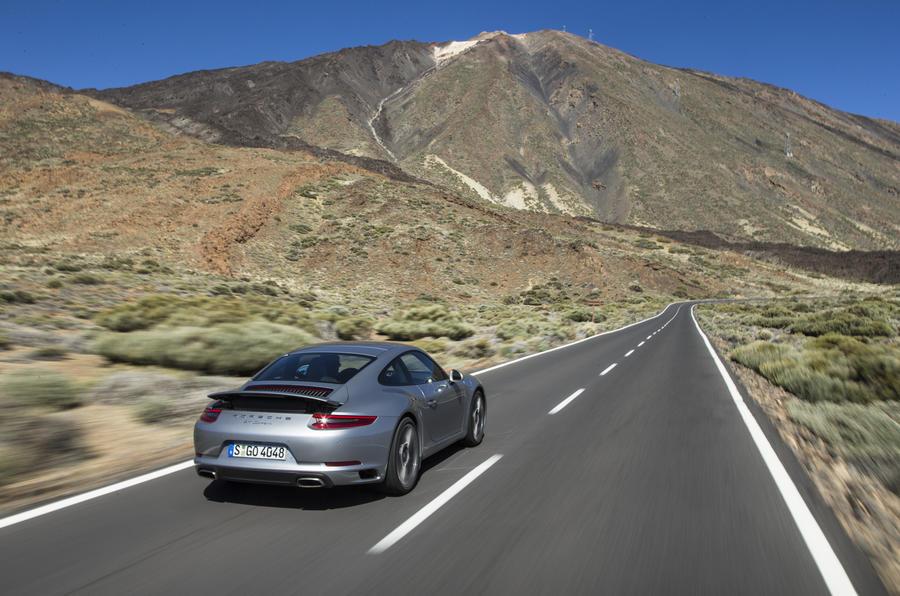Porsche 911 Carrera on the highway
